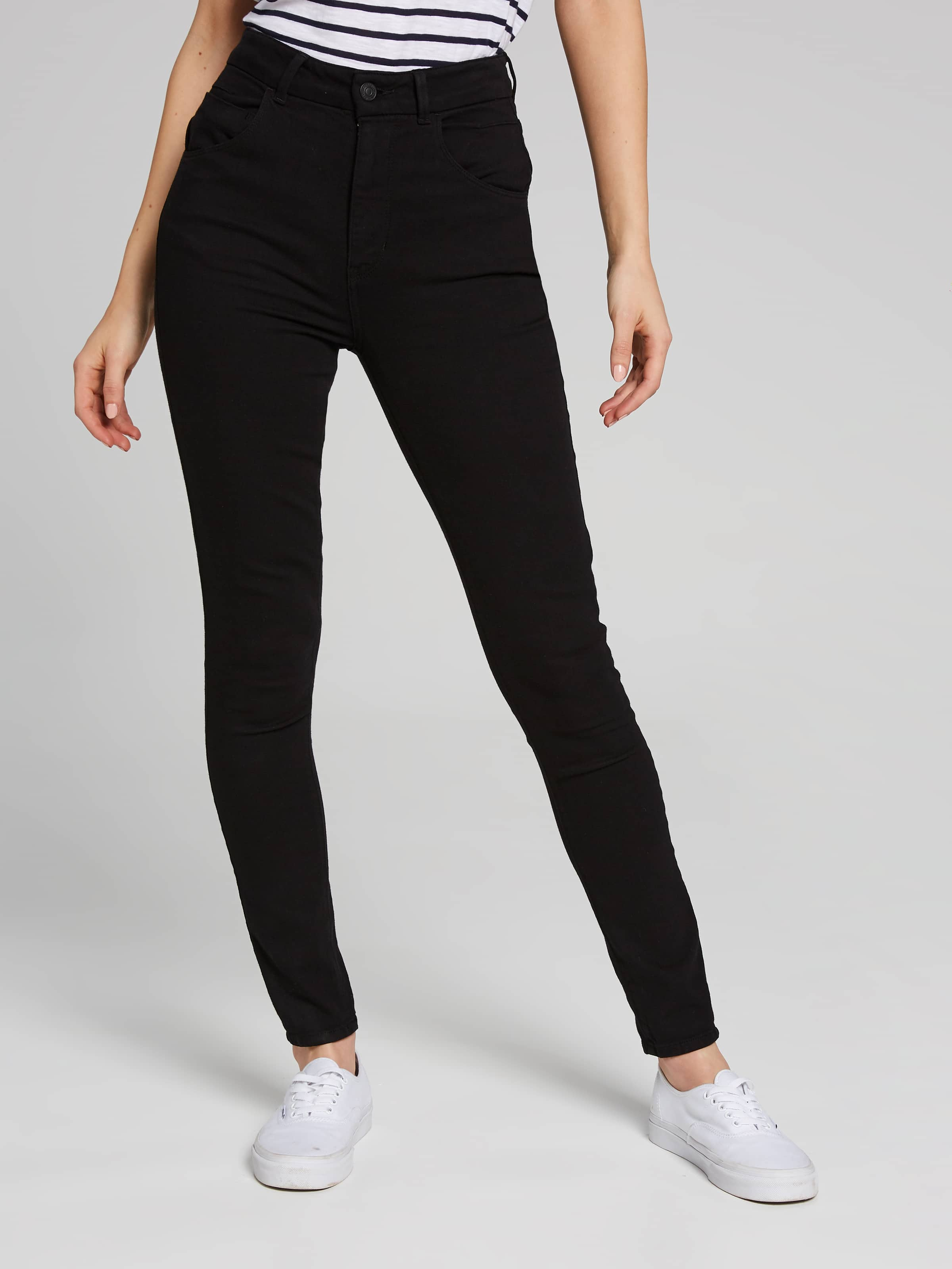 Image for Guess Super High Rise Jean In Black Overdye from Just Jeans ... 72050af84