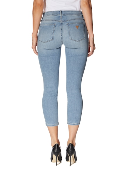 Guess Sexy Curve Crop Jean In Zoe Wash