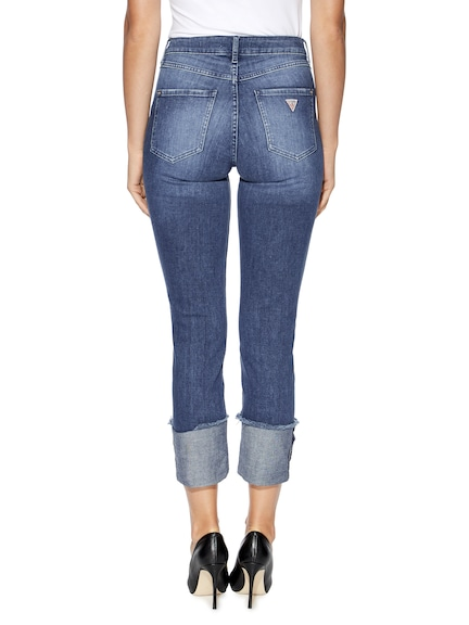 Guess High Rise Skinny In Sutton Wash