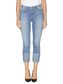 Guess High Rise Skinny Rolled Hem In Rory Wash