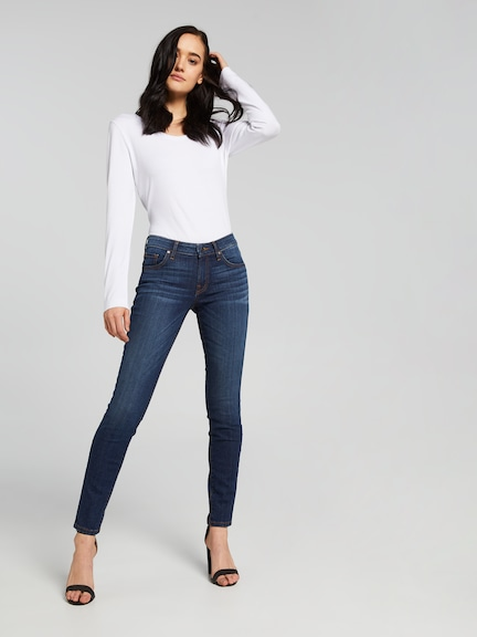Guess Mid Skinny In Dark Reller