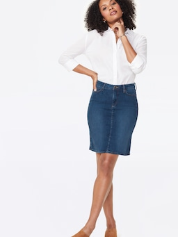 Nydj Denim Skirt In Cooper