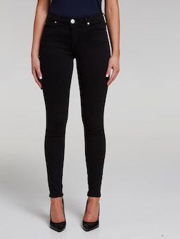 True Religion Halle Super Skinny Jean In Jet Black
