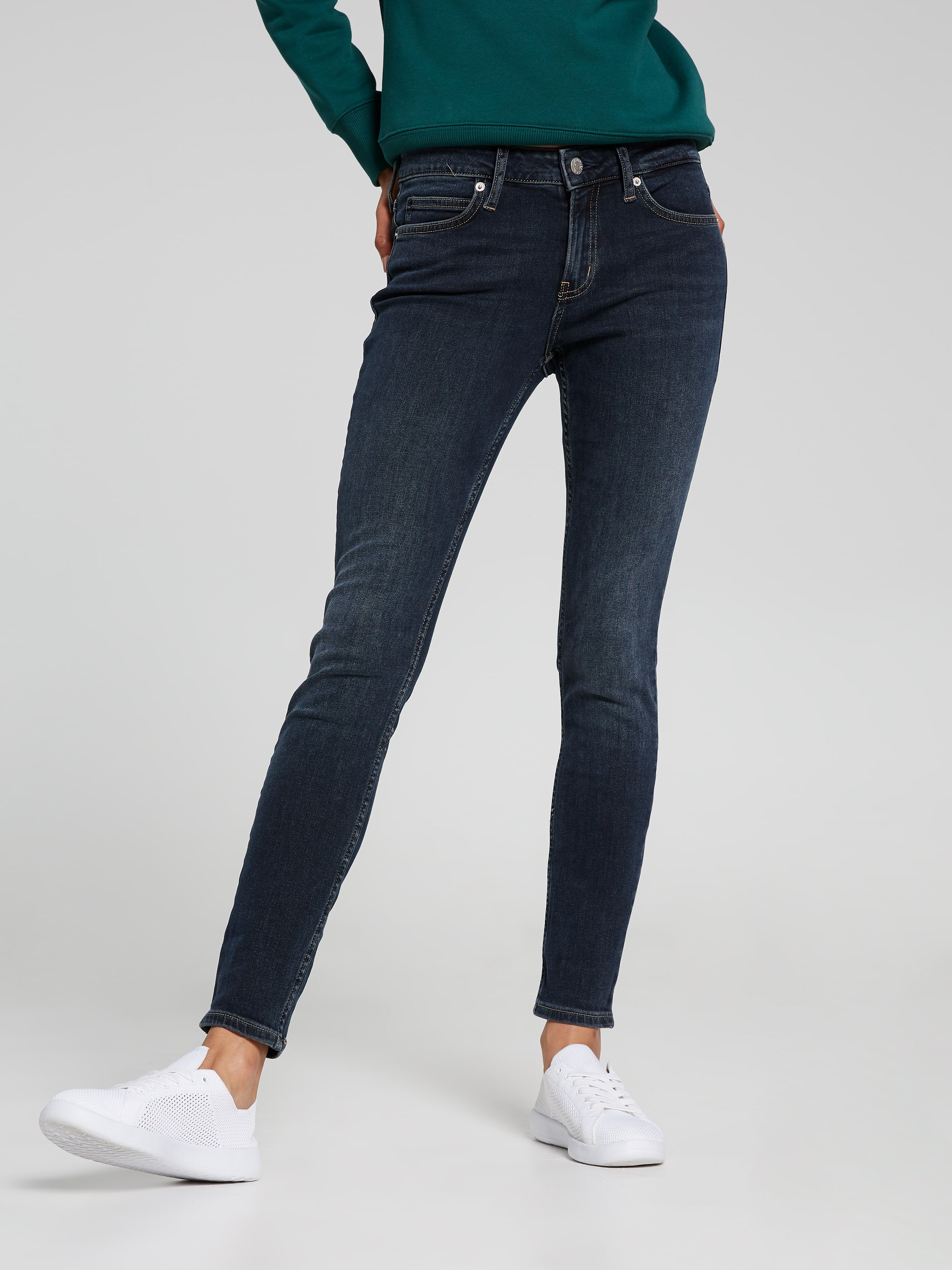 BUY Just Jeans Calvin Klein Mid Rise Super Skinny In Portland Blue ... d512de5e360