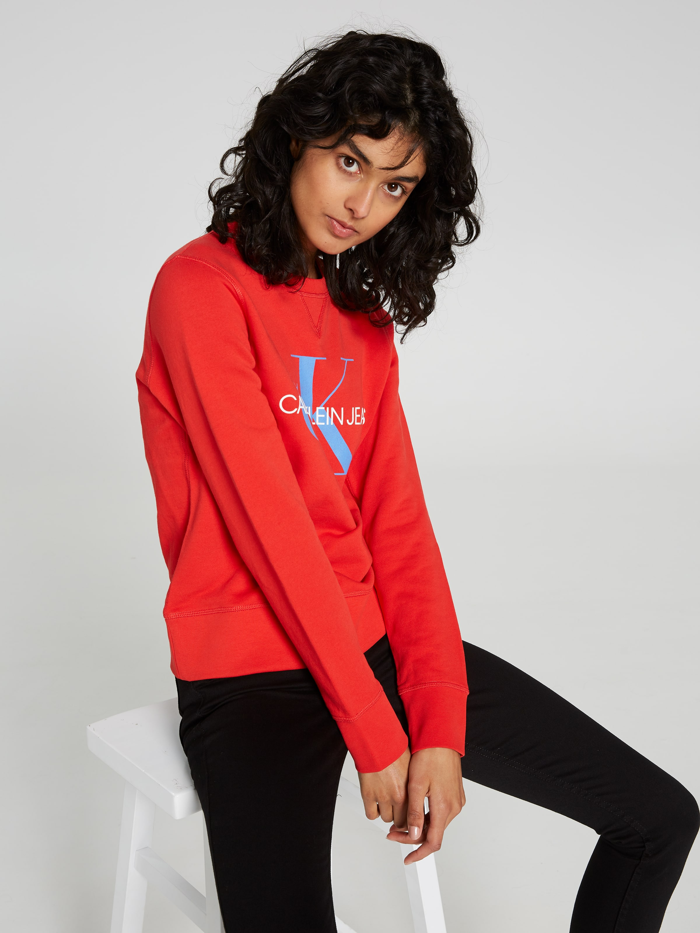 f5fbac75aad9 ... Image for Calvin Klein Monogram Logo Sweatshirt Red from Just Jeans ...