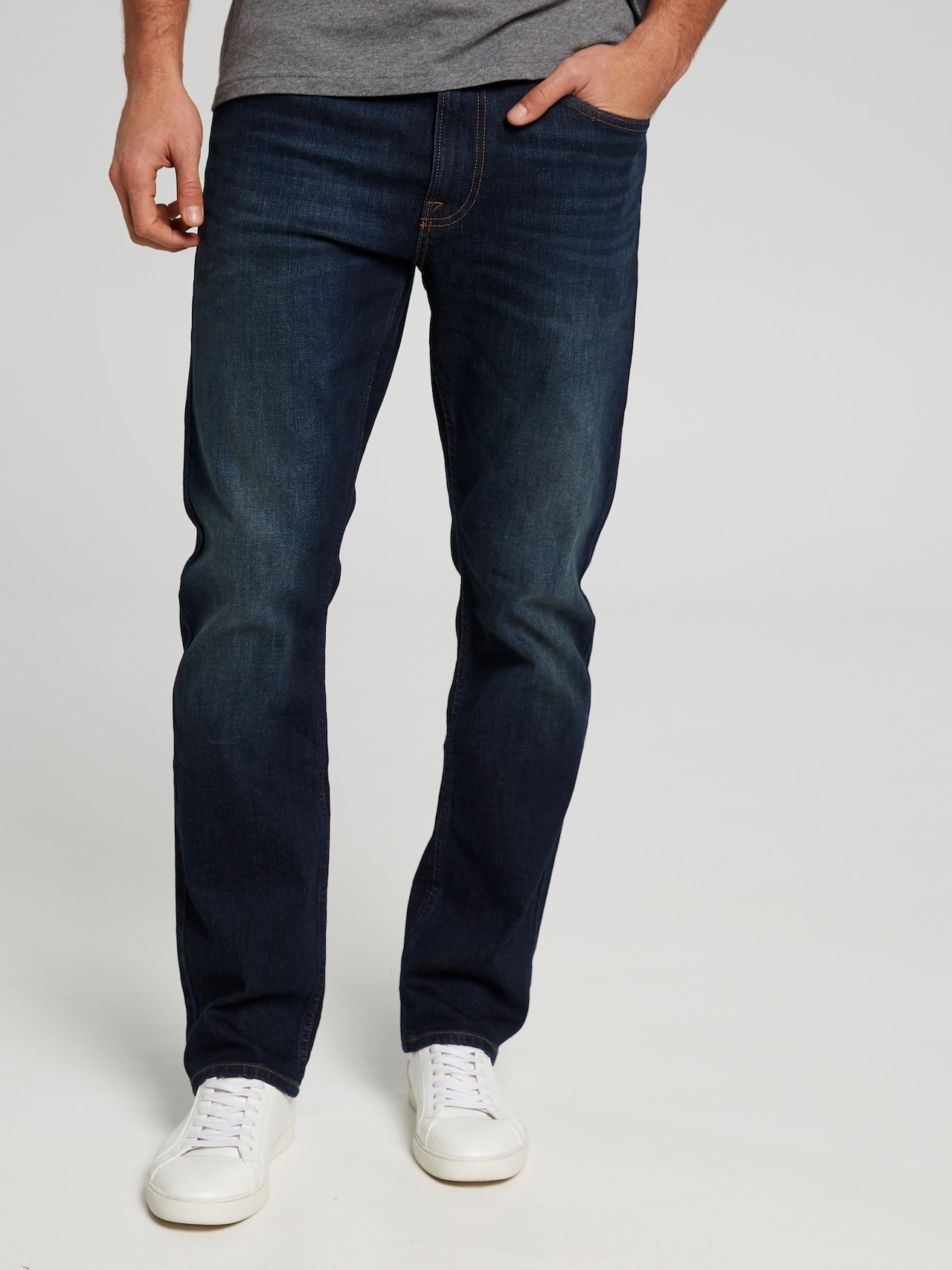 how to purchase arrives classic Calvin Klein Straight Houston Dark Blue - Just Jeans Online
