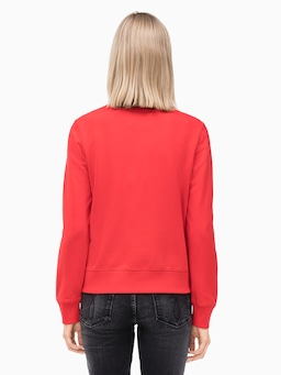 Calvin Klein Jeans Institutional Crew Sweat In Red