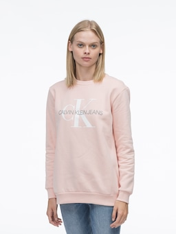 Calvin Klein Monogram Sweat In Peach