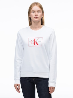 Calvin Klein Jeans Monogram Sweat In White