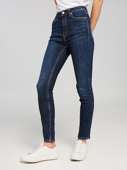 Calvin Klein Jeans High Rise Skinny In Amsterdam Blue Dark
