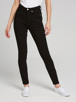Calvin Klein High Rise Skinny In Eternal Black