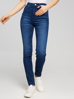 Calvin Klein High Rise Skinny In Mid Blue