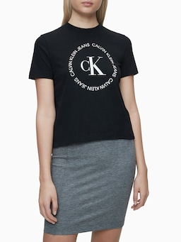 Calvin Klein Monogram Tee In Black