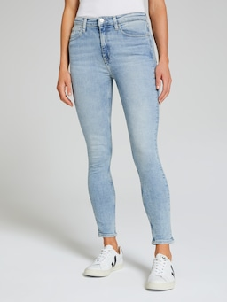 Calvin Klein High Rise Skinny In Light Blue
