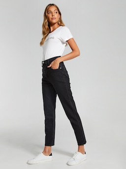 Calvin Klein Mom Jean Washed Black