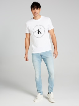 Calvin Klein Skinny In Bleach Blue Destroy
