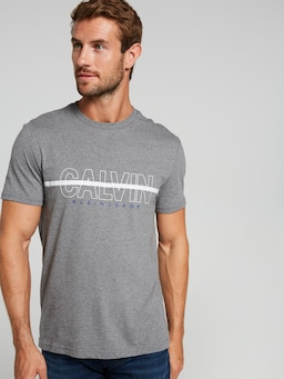 Calvin Klein Jeans Hollow Crew T-Shirt In Grey Marle