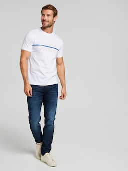 Calvin Klein Jeans Hollow Crew T-Shirt In White