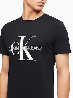 Calvin Klein Monogram T-Shirt In Black
