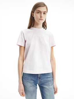 Calvin Klein Shrunk Institutional Tee Pink