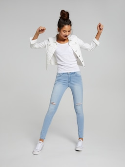 Girls Kylie Luxe Mid Rise Skinny Jean