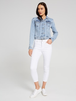 Finley Cropped Trucker Jacket