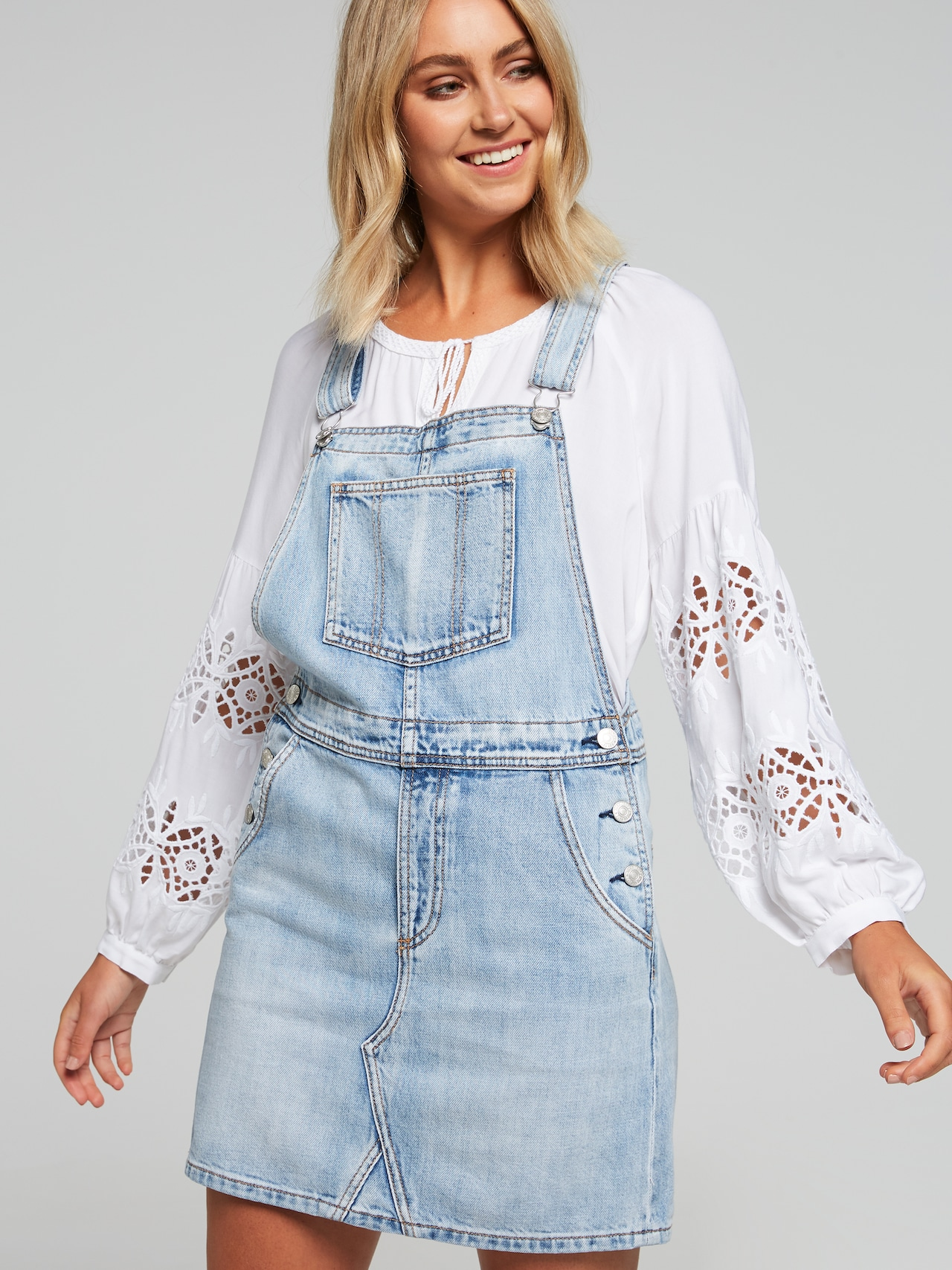 9abba81b28 Evie Vintage Pinafore - Just Jeans Online