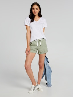 Gia Seam Detail Linen Short