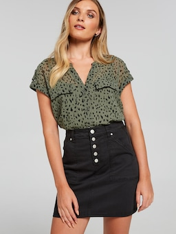 Gracie Cargo Mini Skirt