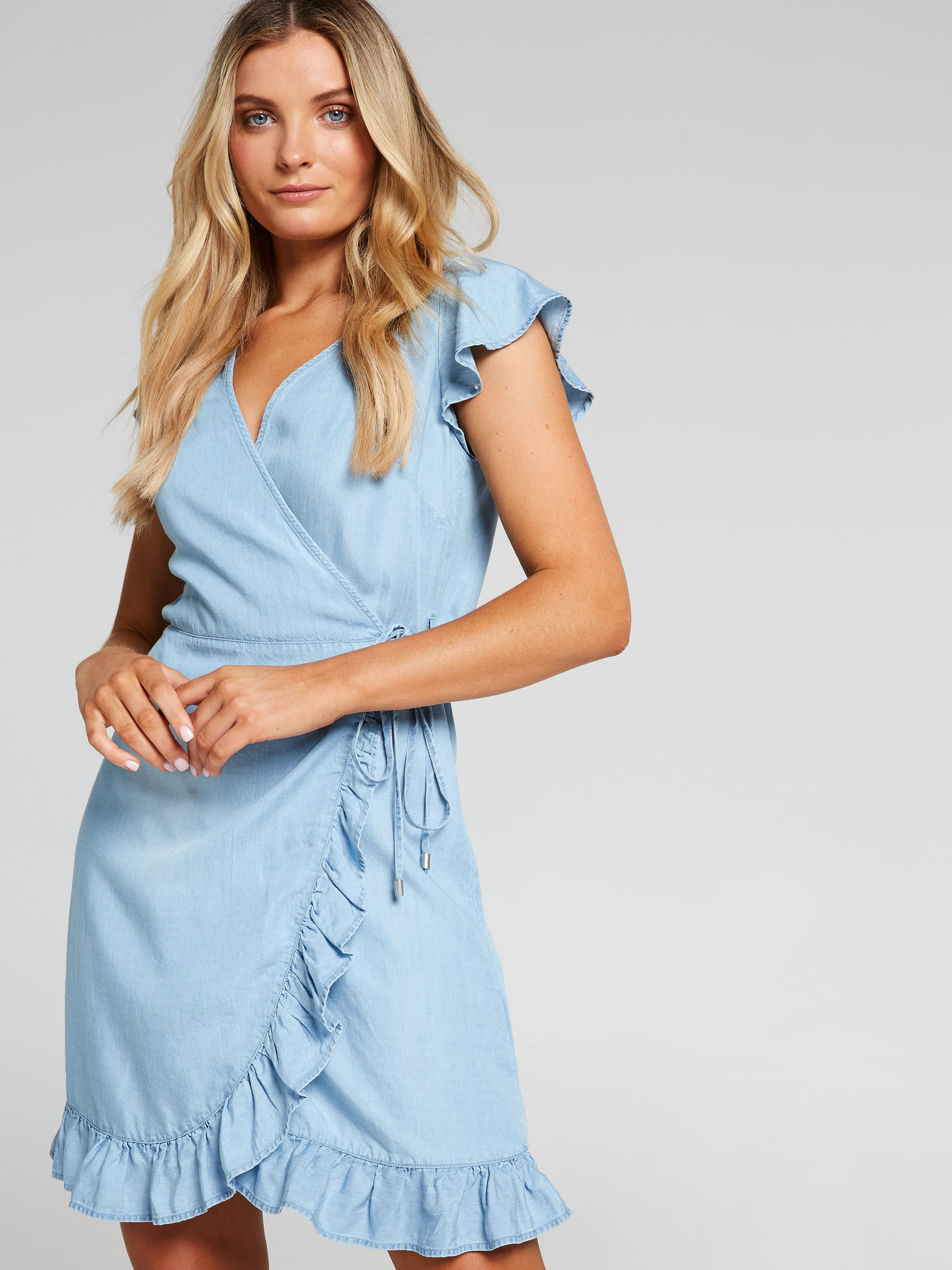 Image of Just Jeans Alexis Lyocell Wrap Dress