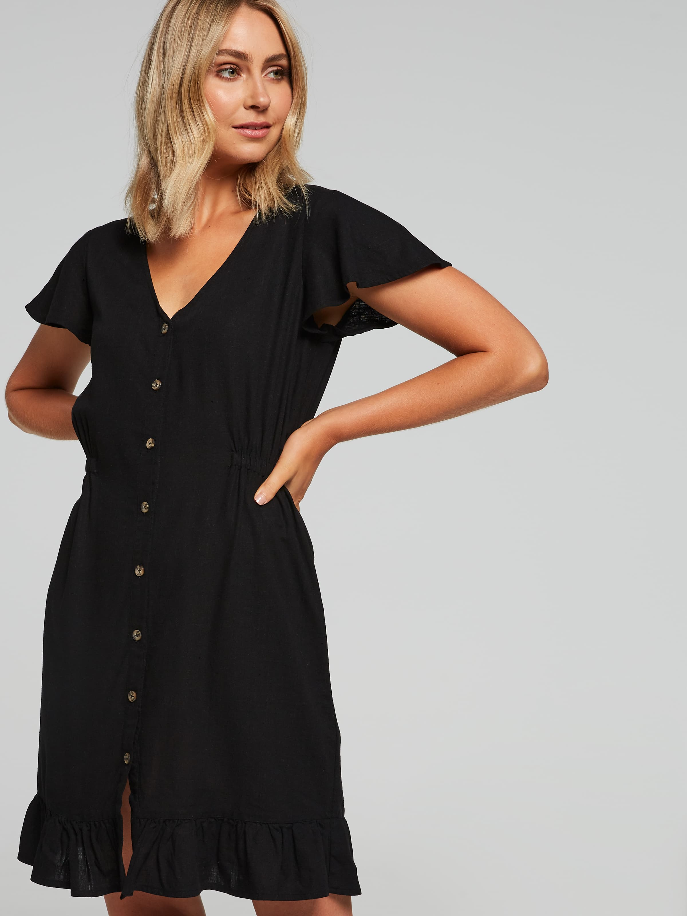 Image of Just Jeans Alicia Button Through Dress