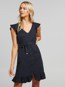 Joni Ruffle Sleeve Dress