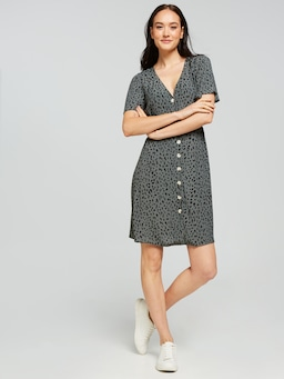 Kellie Button Front Dress