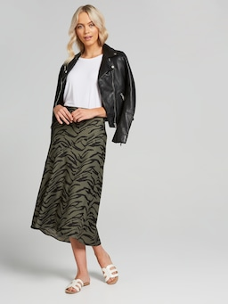 Becky Seam Detail Midi Skirt