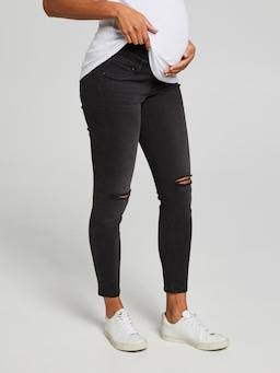 Over Belly Ripped Maternity Skinny Ankle