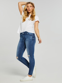 Super Mid Rise Ripped Skinny Ankle