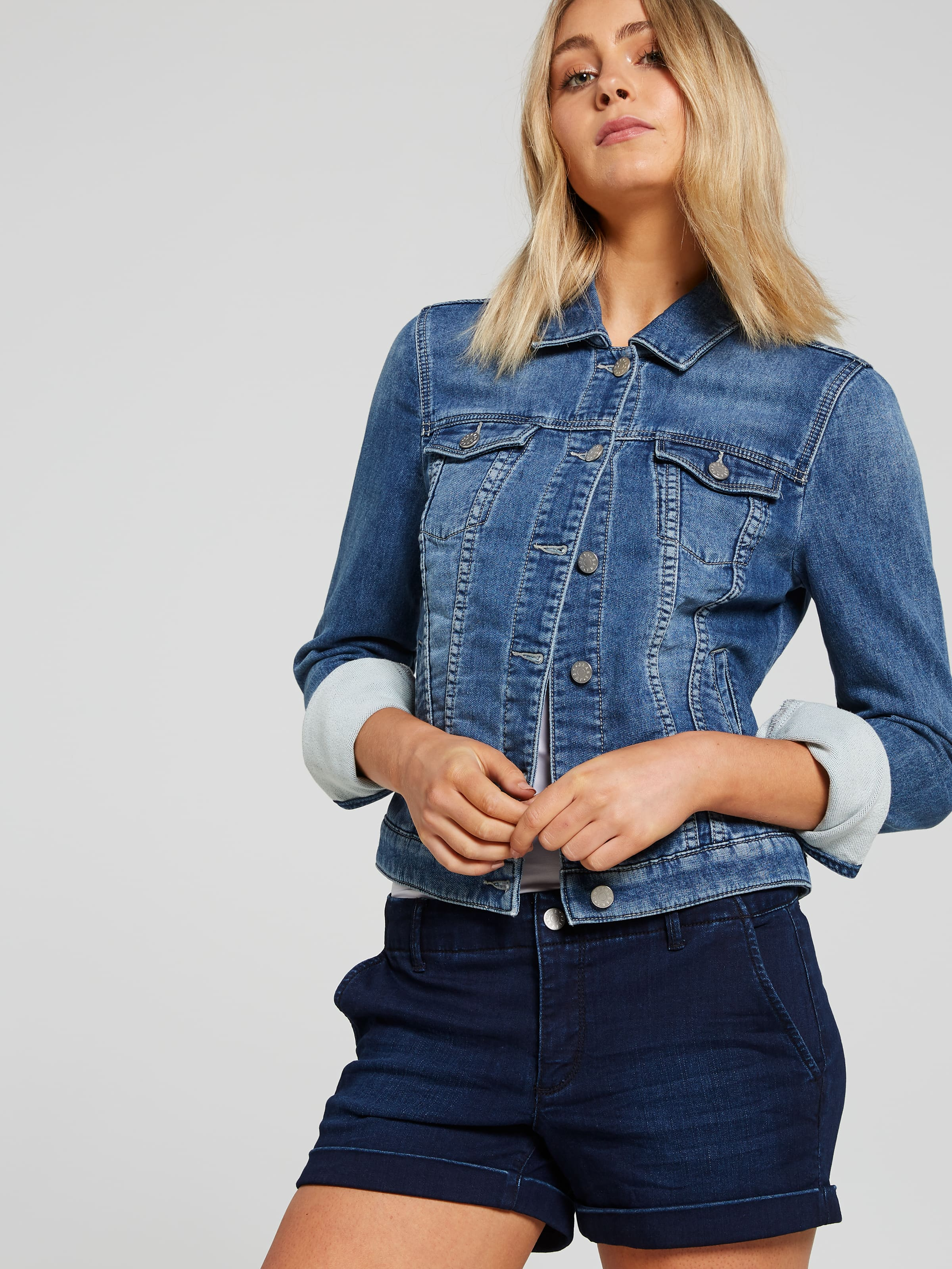 Image of Just Jeans Abby Midi Short