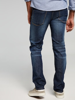Stretch Mid Rise Slim Leg Jean