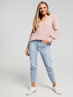 Polly Luxe V Neck Pullover