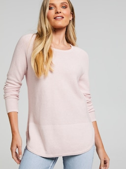 Margot Scoop Hem Knit