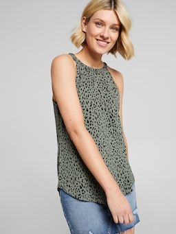 Mimi Plaited Knit Tank