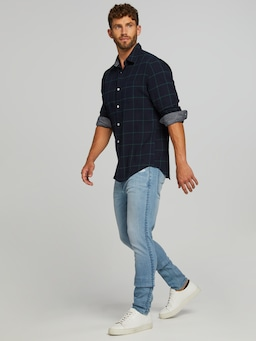 Long Sleeve Flannel Grid Shirt