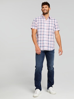 Short Sleeve Linen Fresh Check