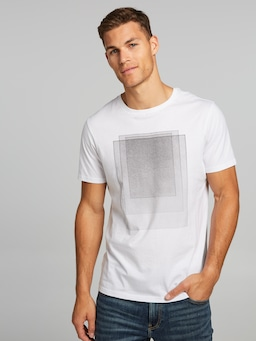 Short Sleeve Abstract Rectangle Tee
