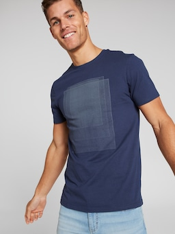 Short Sleeve Square Abstract Tee