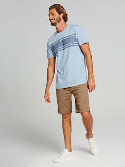 Ss Chest Stripe Tee
