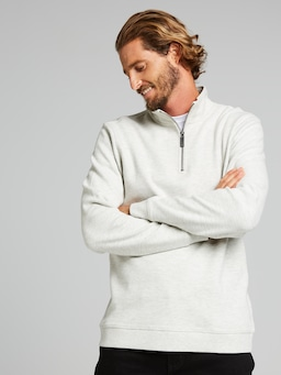Rugby Qtr Zip Sweat
