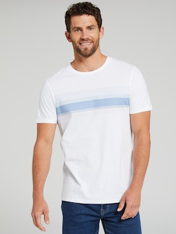 Short Sleeve Chest Stripe Tee