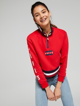 Girls Levis Hr Zip Crew