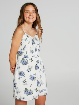 Girls Rose Floral Print Dress